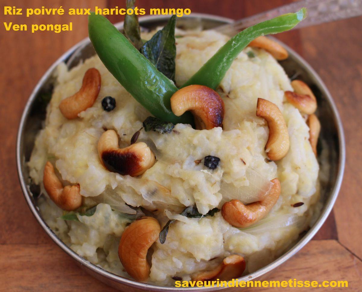 Riz poivré aux haricots mungo