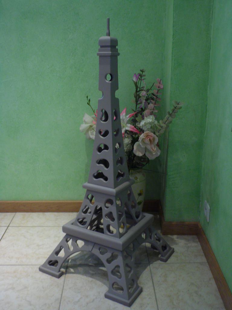 Lampe tour Eiffel design abat-jour