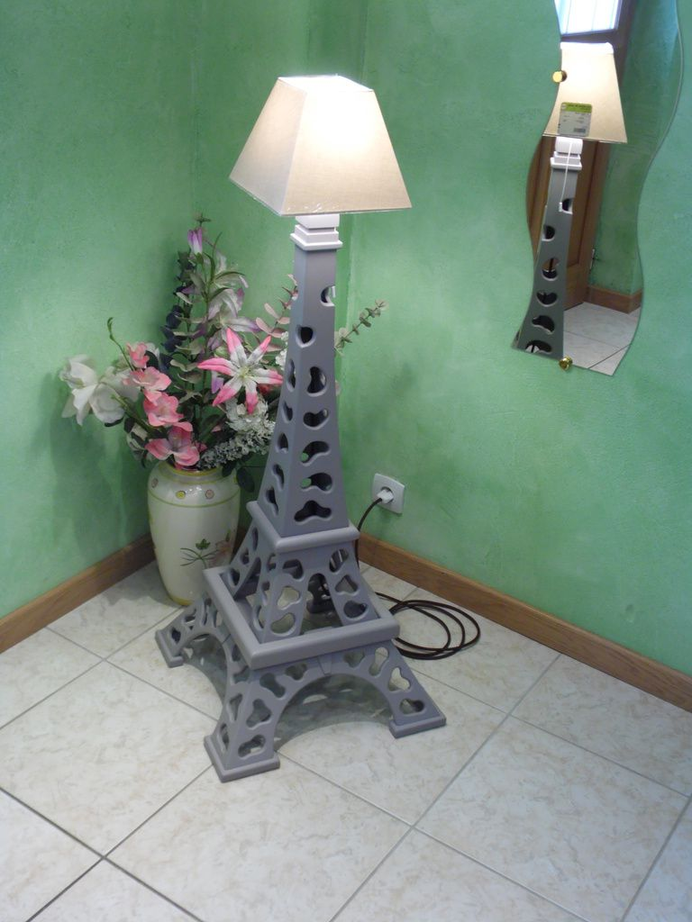 lampe tour eiffel design abat jour le blog de hl cr ation. Black Bedroom Furniture Sets. Home Design Ideas