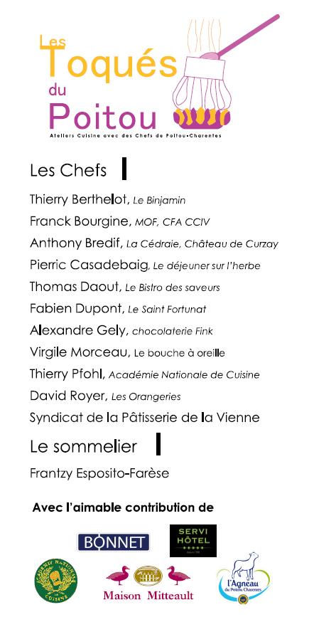 Programme des Toqués du Poitou