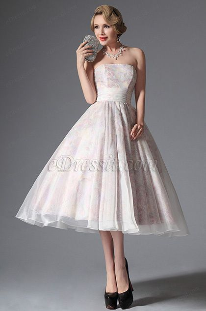 eDressit 2014 New Simple Strapless Vintage Prom Dress Formal Gown