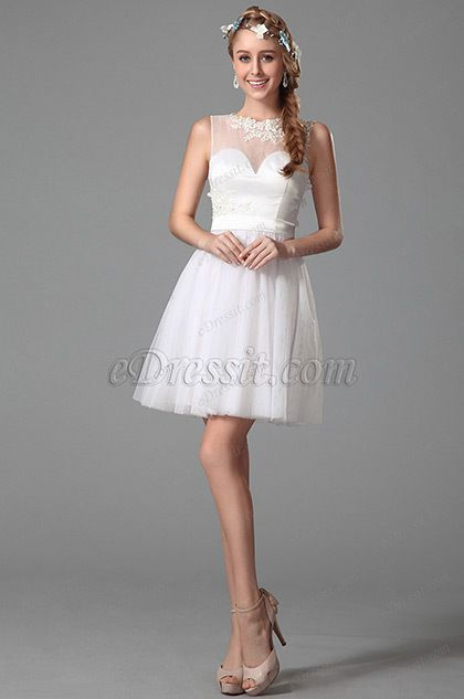 Flattering Sleeveless Party Dress With Illusion Sweetheart Neck