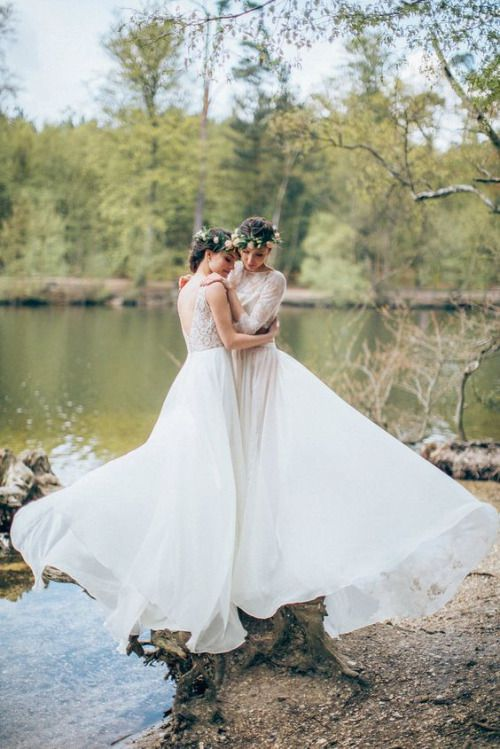 two pretty wedding dresses