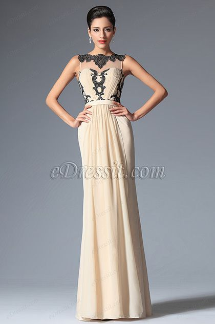 eDressit 2014 New Champagne Sleeveless Pleated Evening Dress
