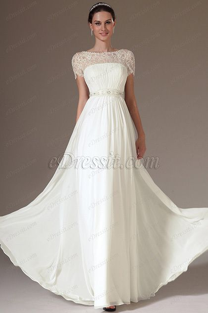 eDressit 2014 New Embroidered Lace Top Wedding Dress