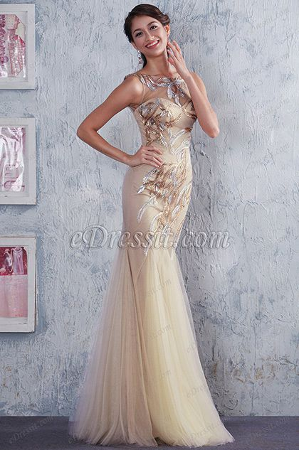 Sleeveless Beaded Top Sexy V Back Mermaid Homecoming Dress Prom Gown