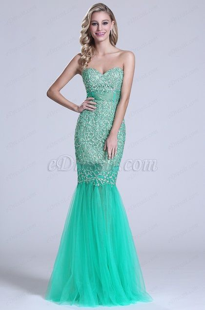 Gorgeous Strapless Sweetheart Beaded Prom Dress