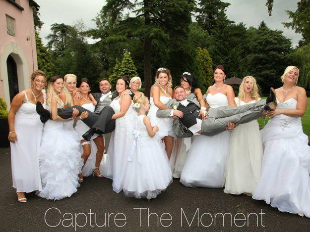Two Men Marry Each Other With Their 10 Bridesmaid Dresses