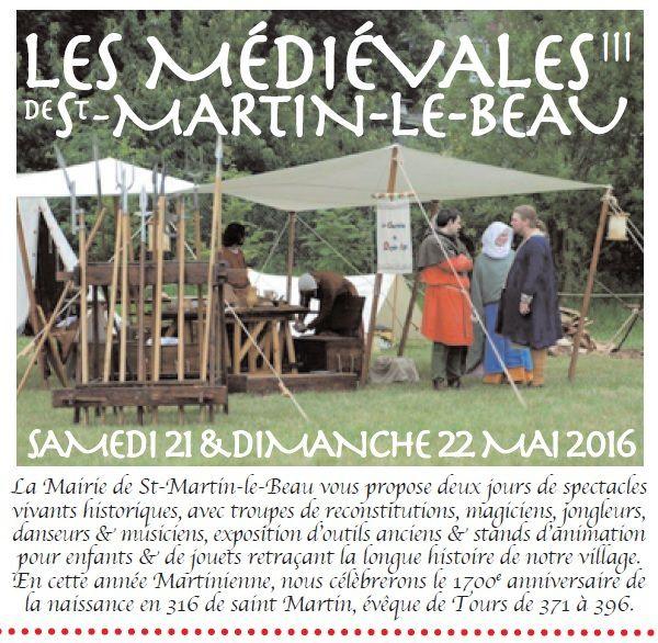 Saint-Martin-le-Beau 21 et 22 mai 2016