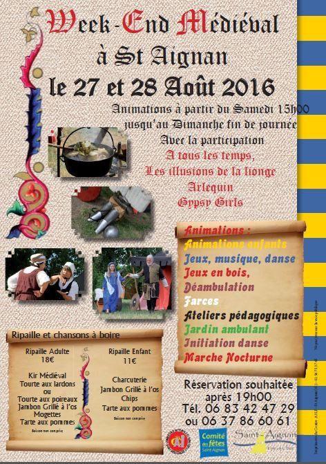 Saint-Aignan 27 et 28 août 2016
