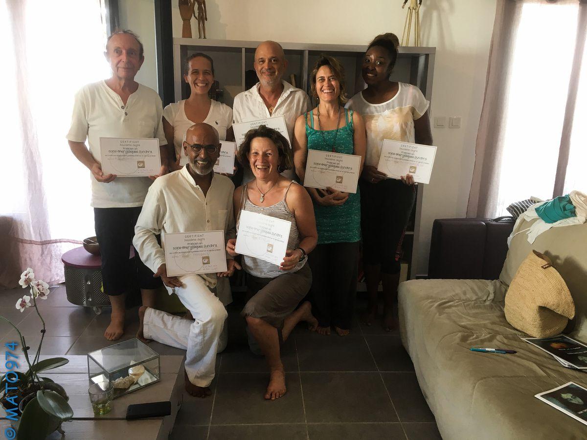 26 août 2017 : 7 nouveaux praticiennes et praticiens Gundhra