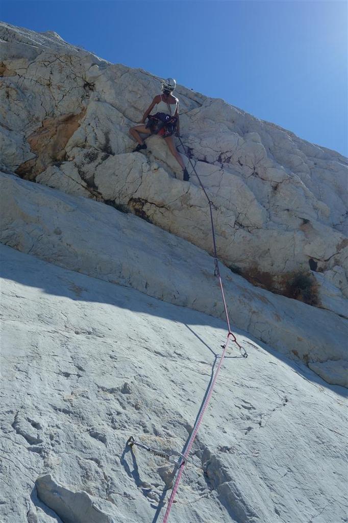 """dans la dalle puis le dévers de """"arts perdus"""", de la belle grimpe bien obligatoire"""