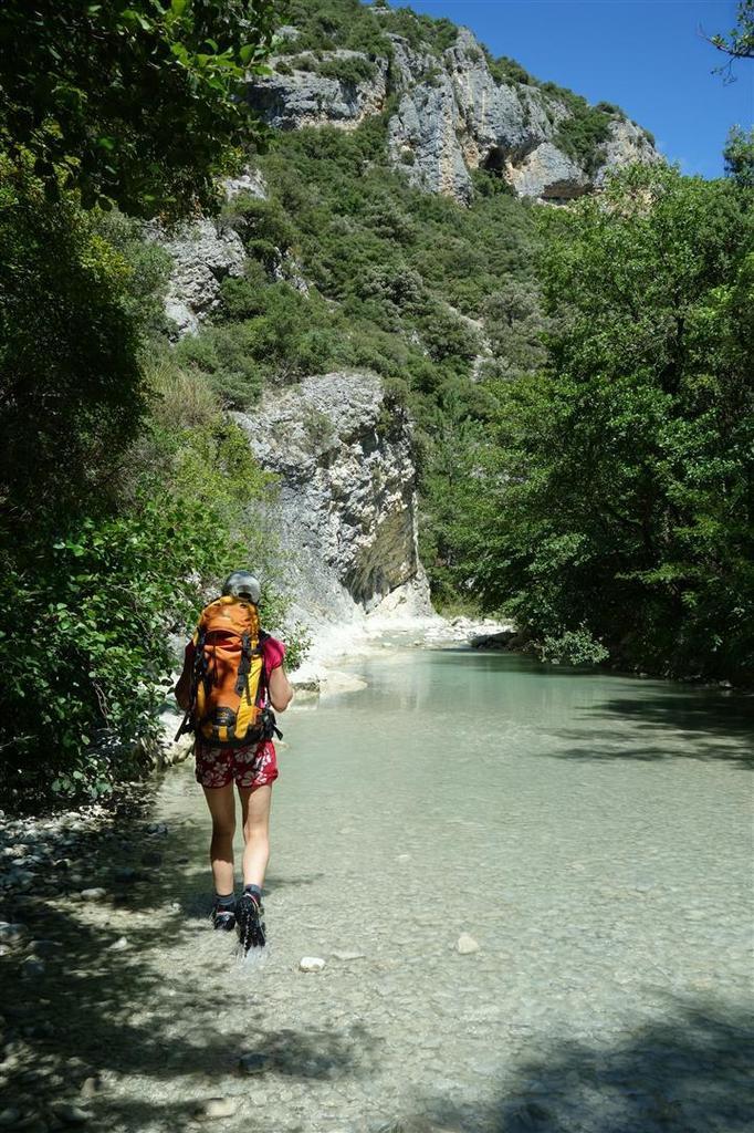 dans les gorges du Toulourenc, parcourues en aller-retour