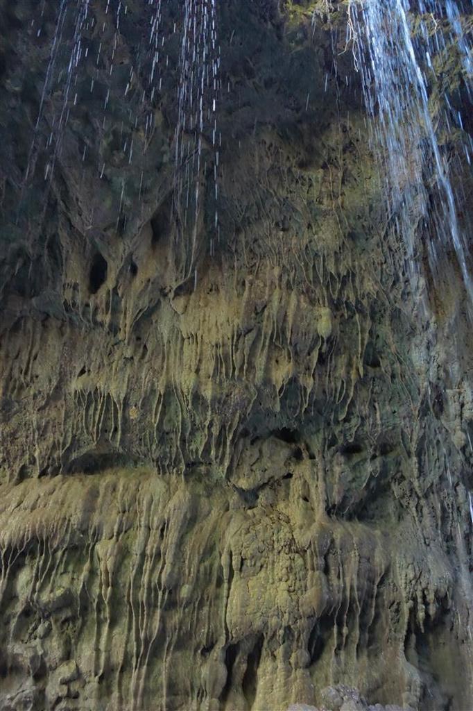 vues de détail des concrétions et du rocher