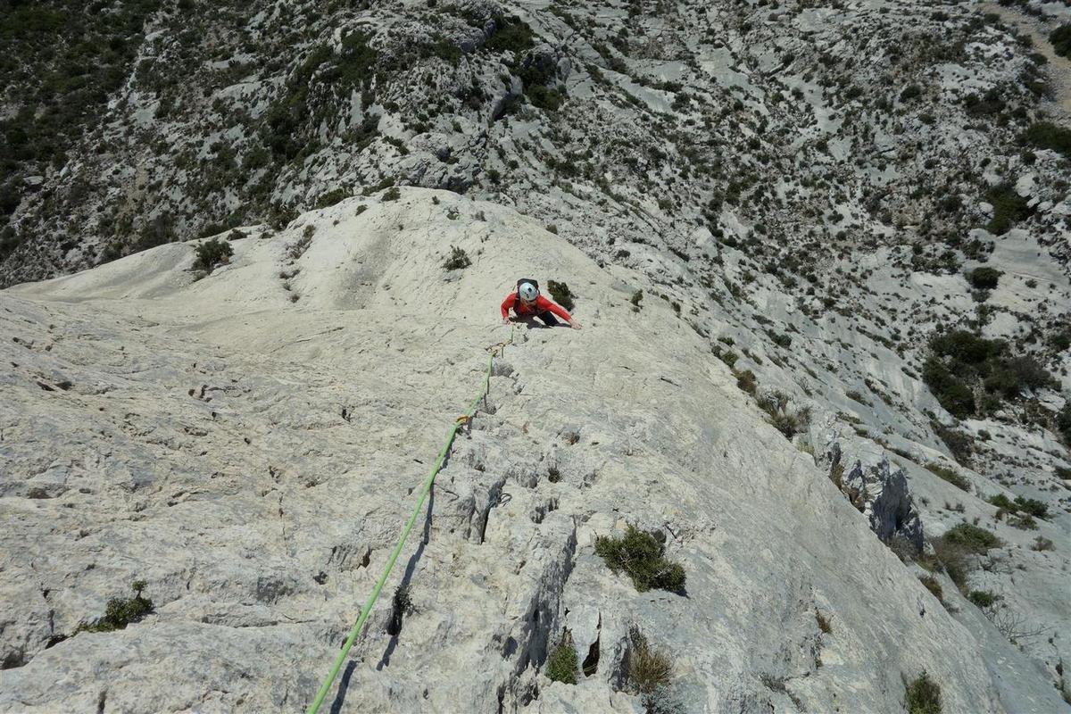 dans L3, sur rocher blanc cannelé