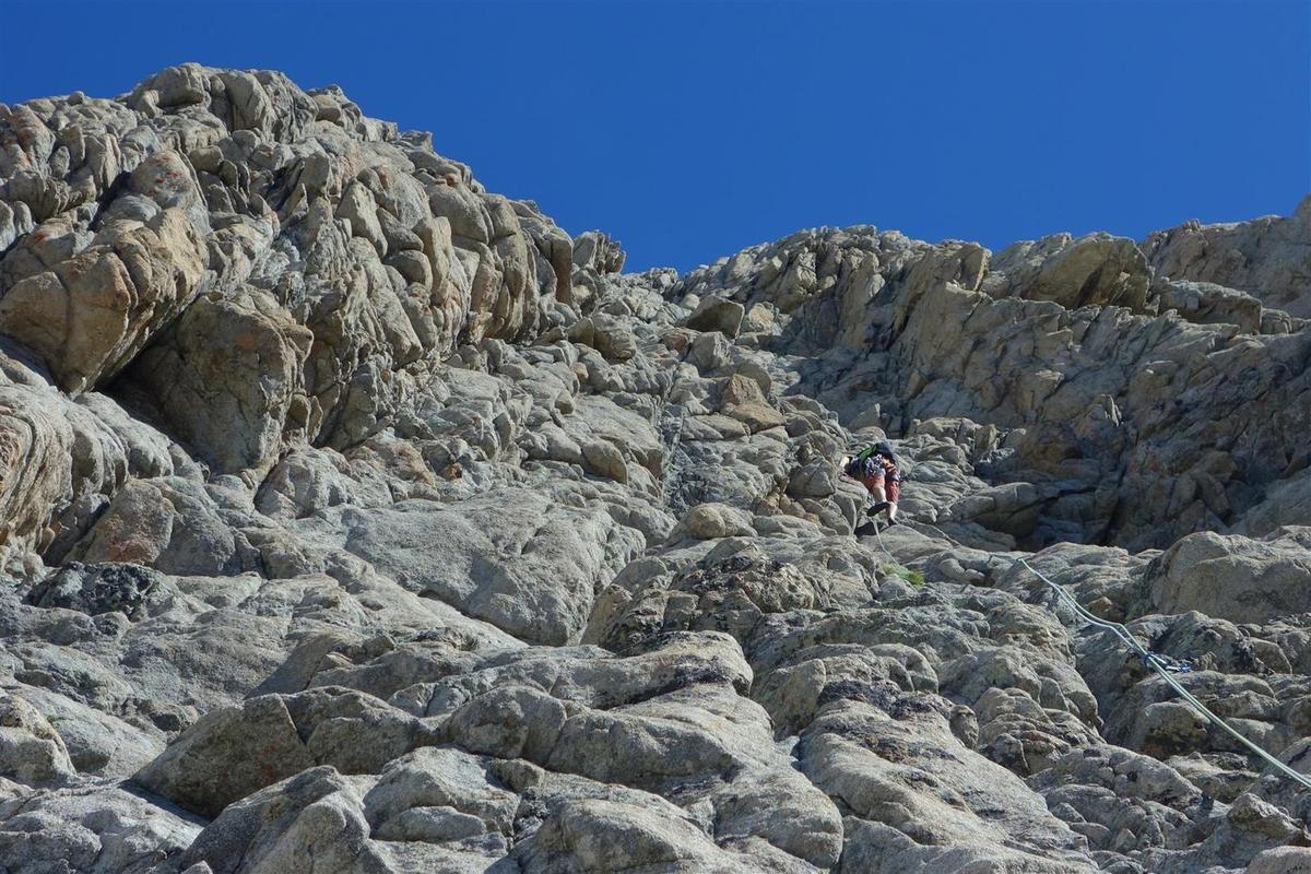 sur le magnifique rocher de L9, avant qu'on ne se fourvoie à gauche
