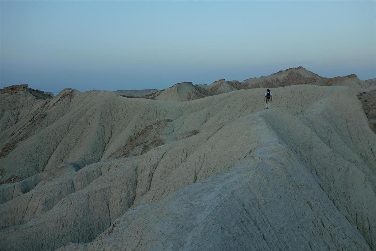 sur les marnes gris-vert au-dessus de Chahkooh