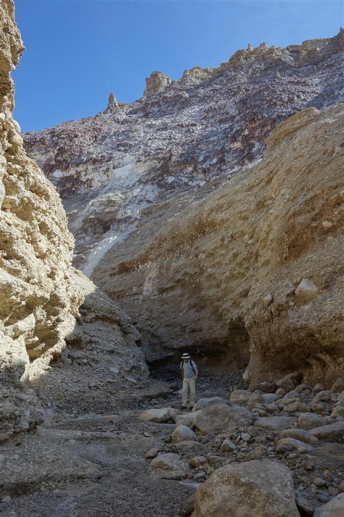 au début du canyon de conglomérat marquant le front ouest du glacier