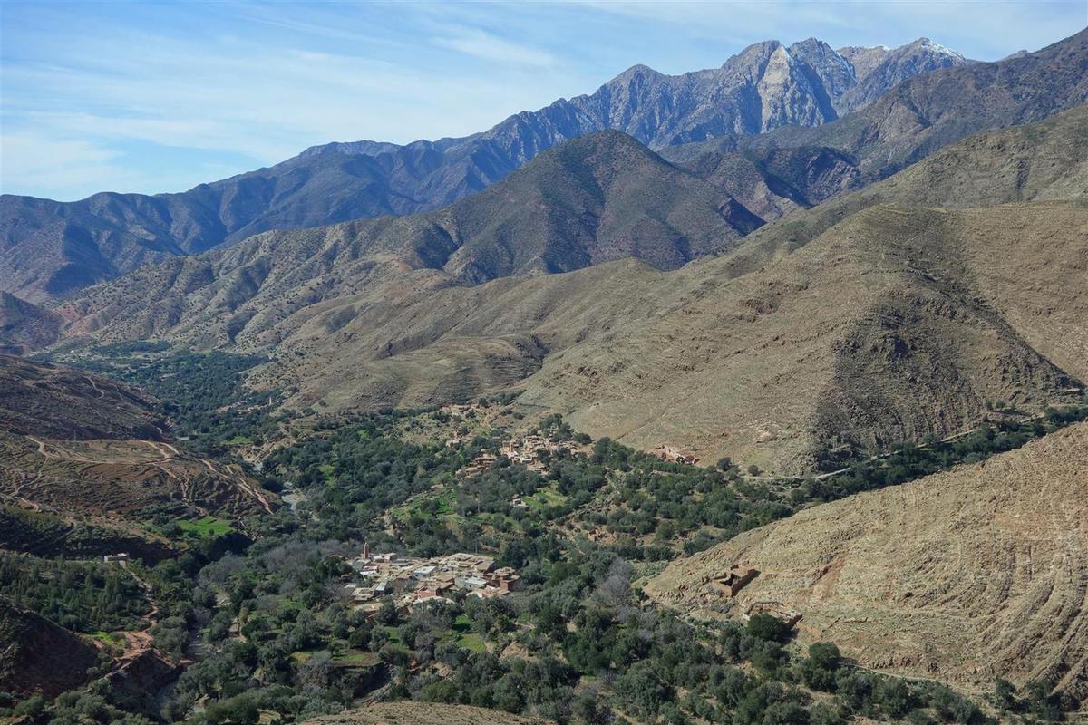 vue depuis le col du Tizi N'Test vers le nord