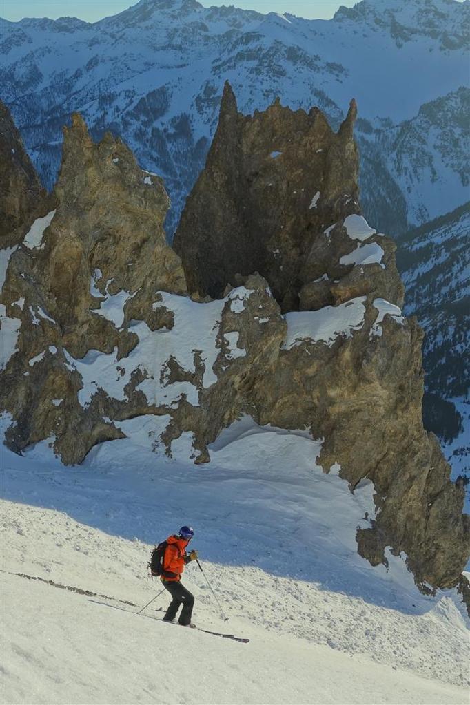 ski entre les pénitents