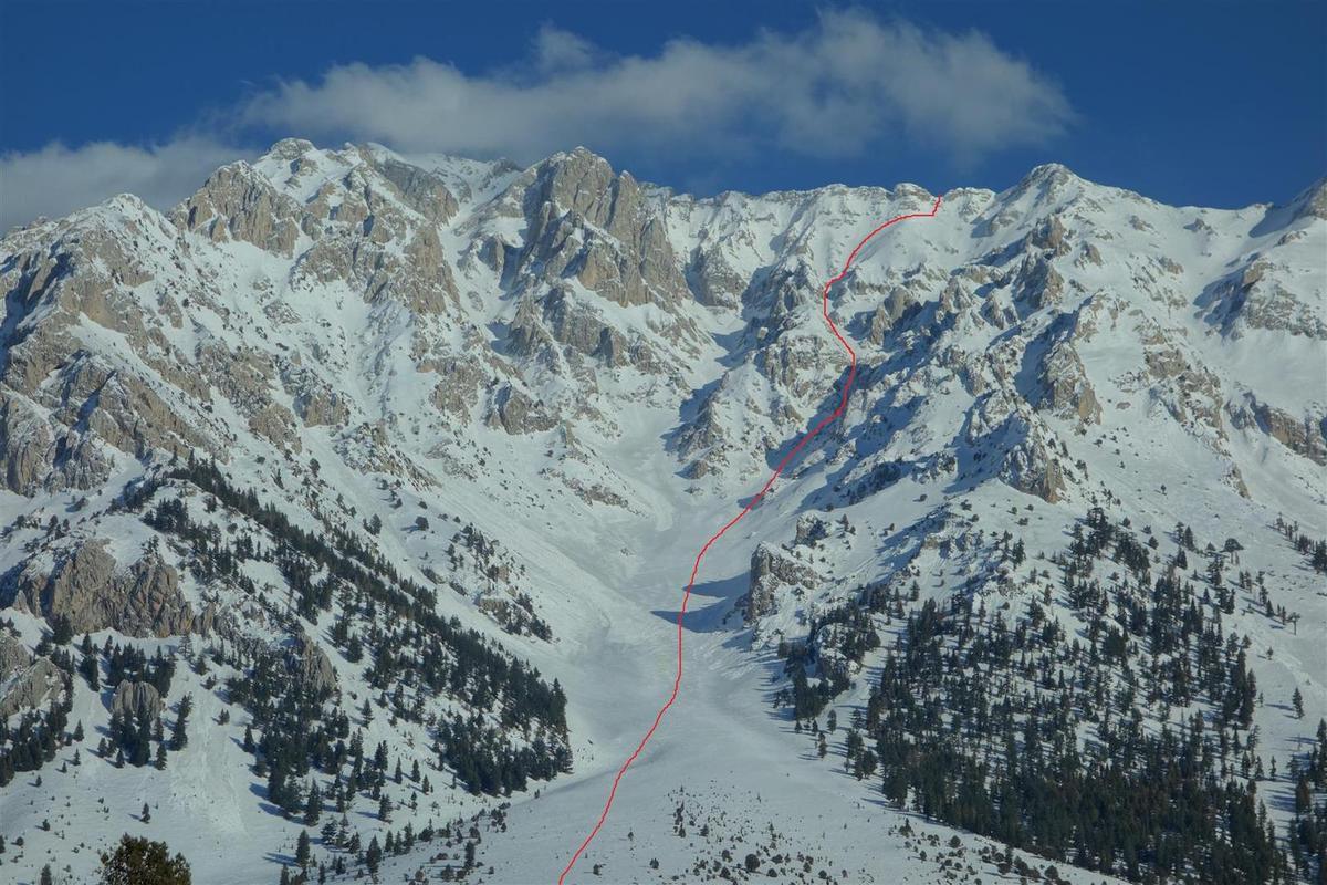 l'itinéraire skié vu 2 jours plus tard
