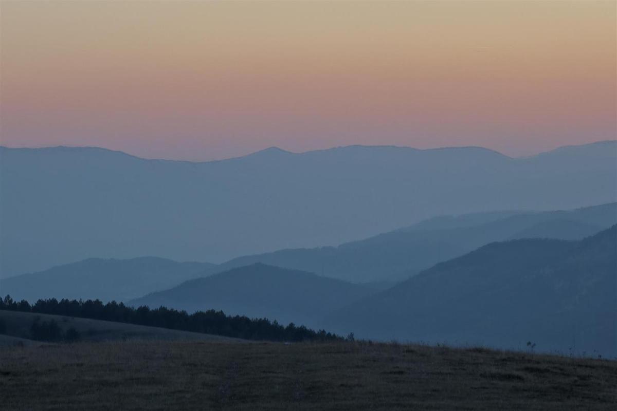 crépuscule depuis Fonte Cerreto