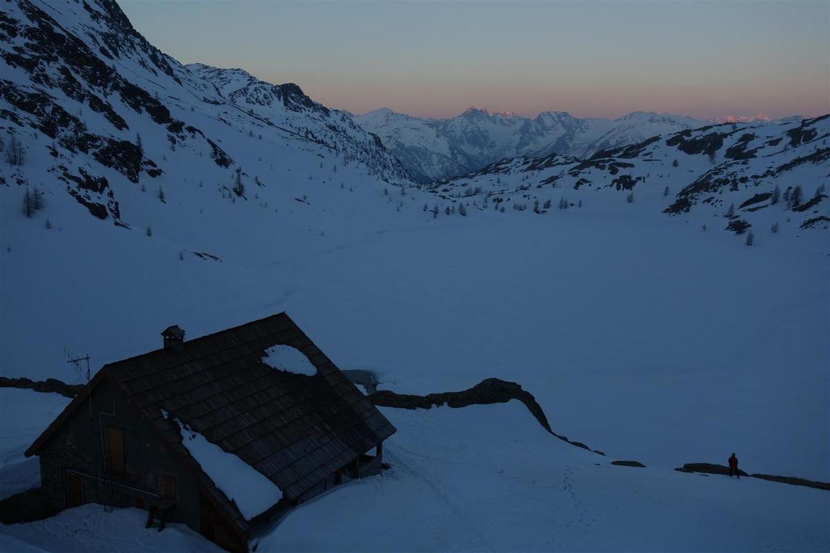 lever de soleil au refuge de Vens