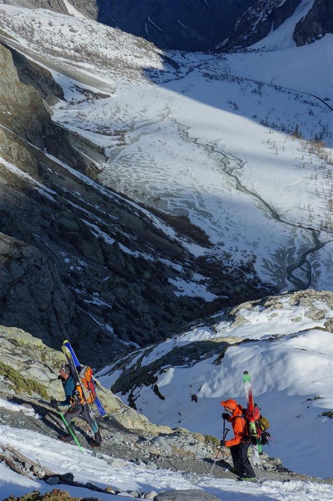 le 7 mai au soir, montée vers le refuge du Glacier Blanc