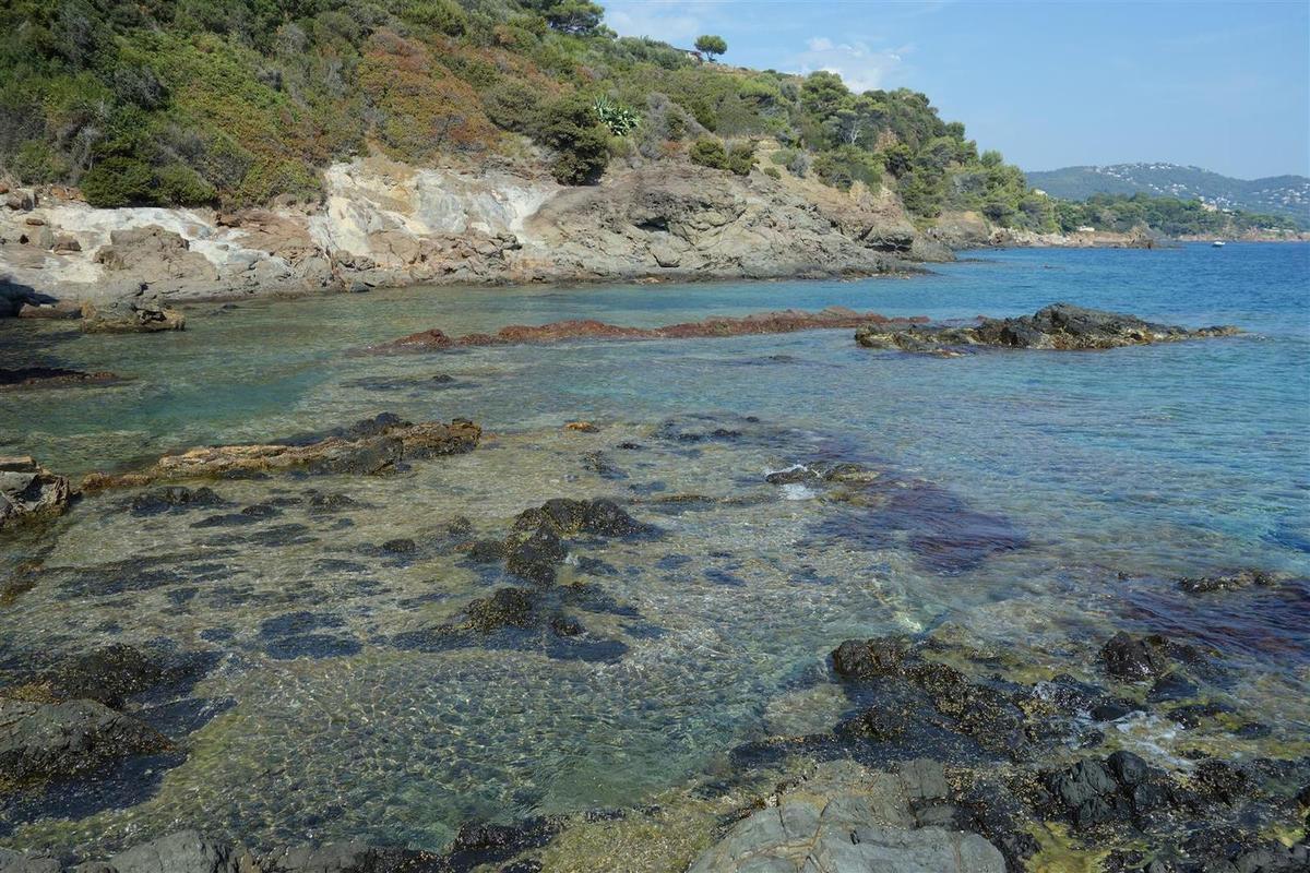 le Bau Rouge, un littoral gréseux et calcaire à la géologie exceptionnelle, juste à l'est de Toulon