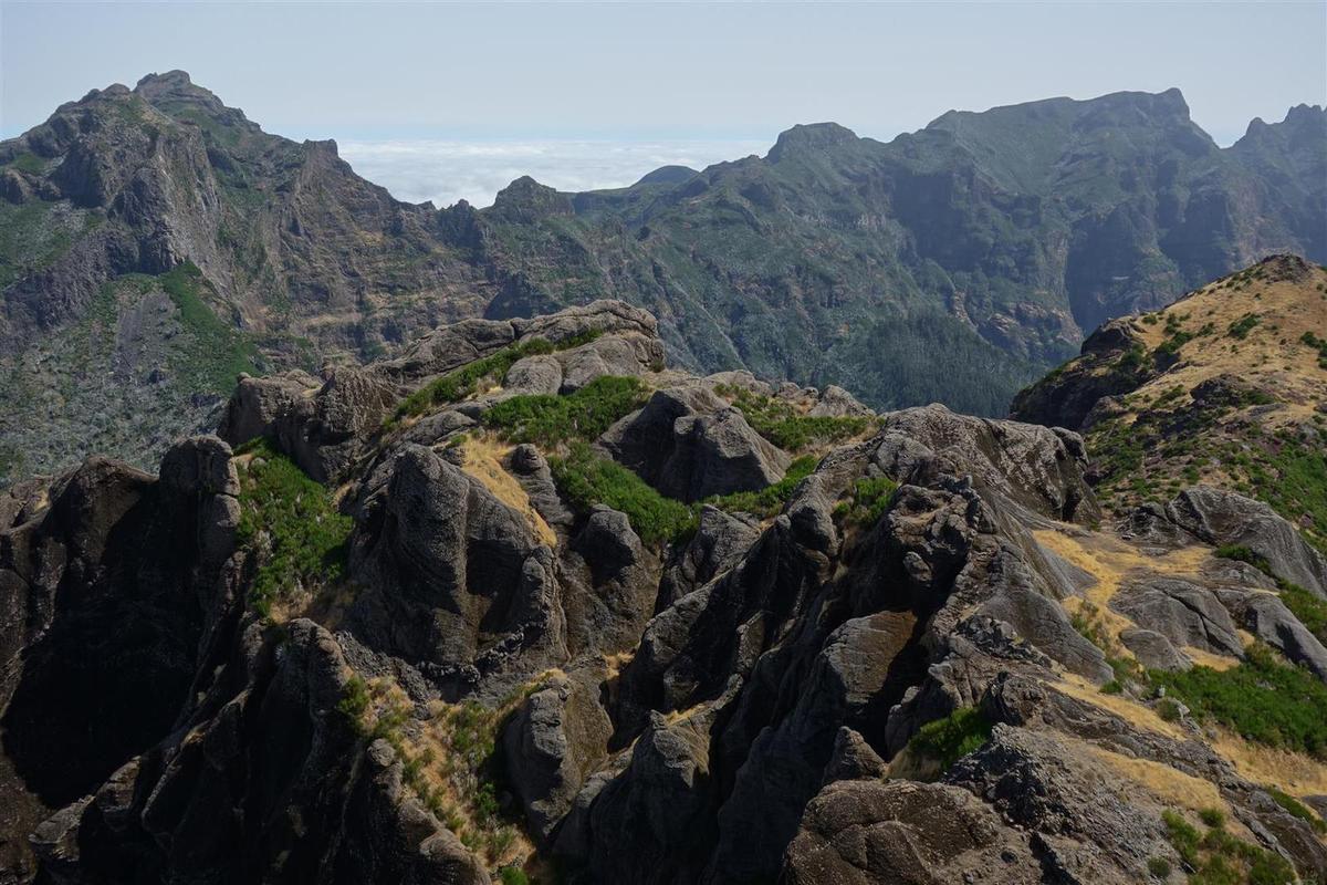 dans la montée finale et au sommet du Pico Grande