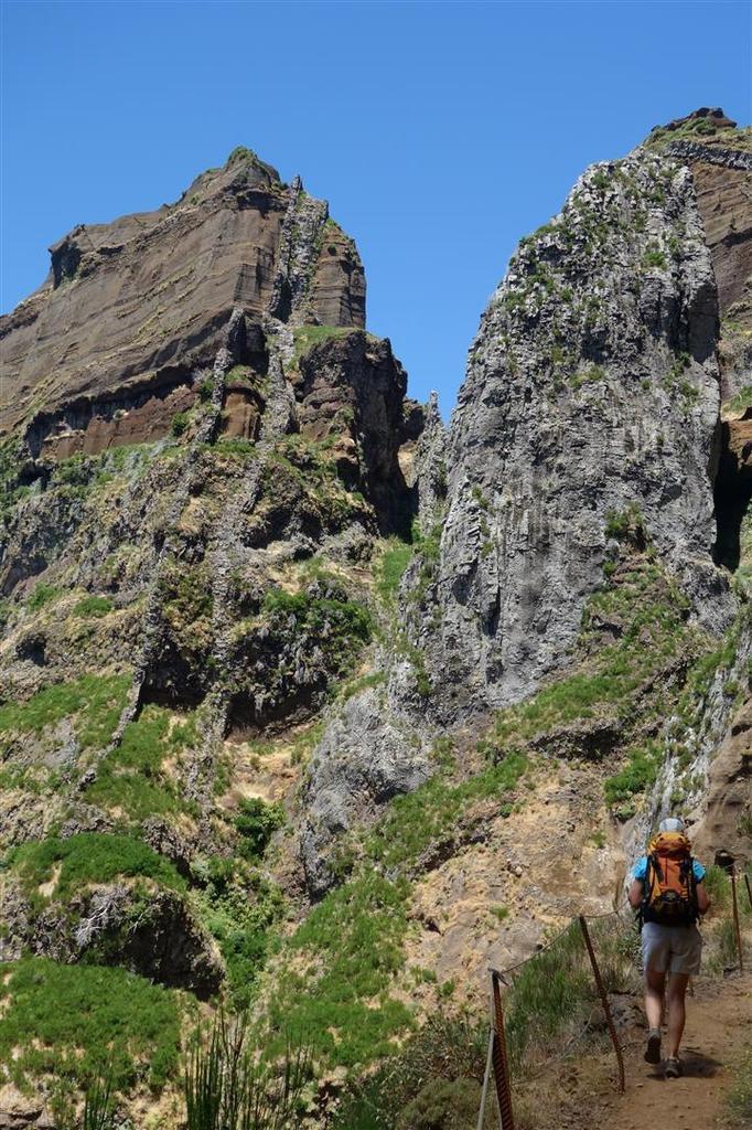 dans la traversée vers le Pico das Torres