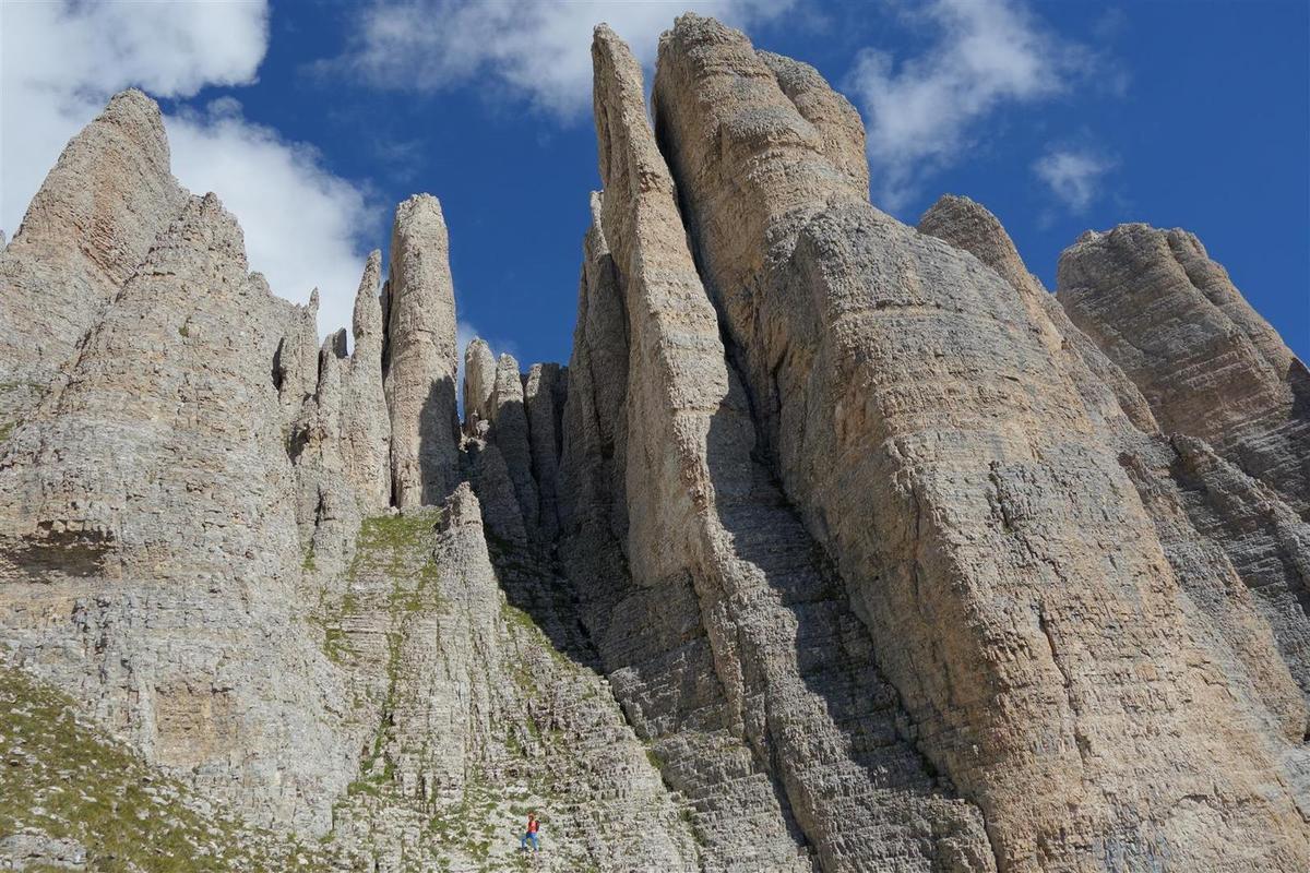 sous les orgues de calcaire du Petit Obiou, en haut du Pré Chevalier