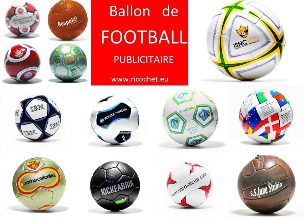 Ballon de football publicitaire