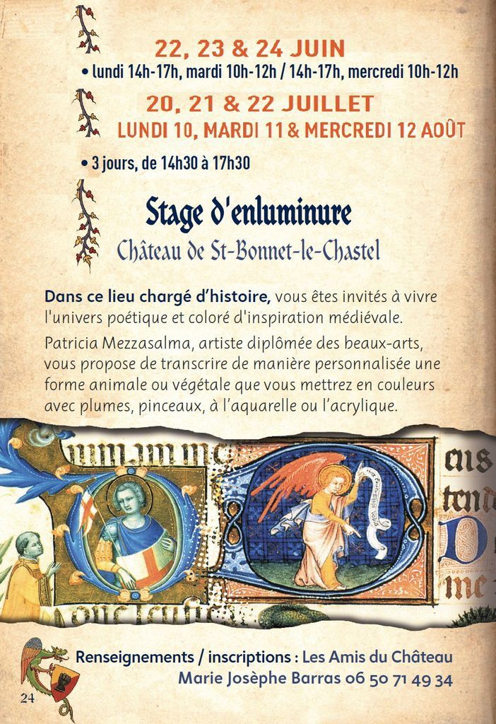 Stage d'enluminure