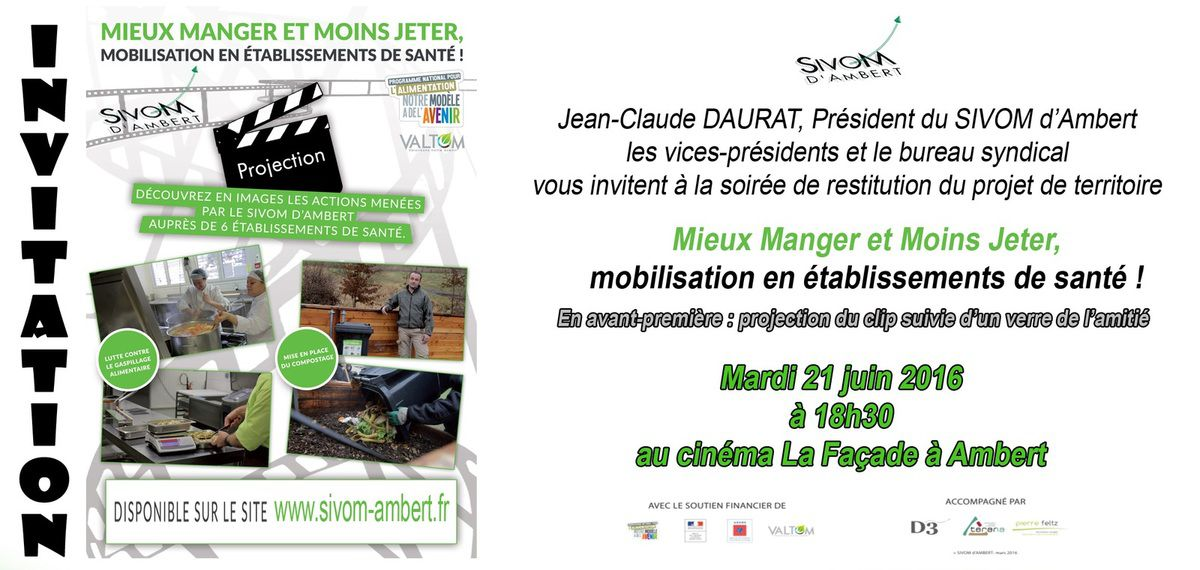 Invitation du SIVOM d'Ambert