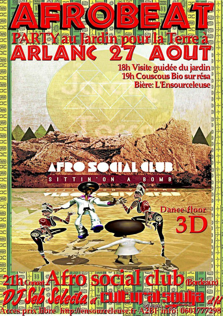 Afrobeat party à Arlanc