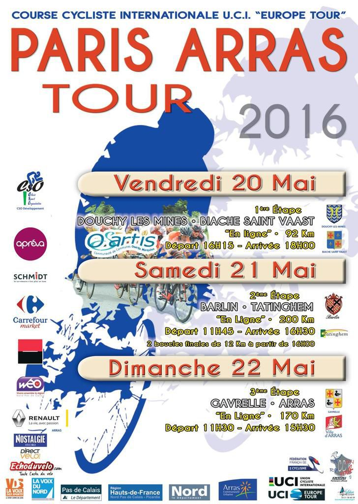 Le PARIS ARRAS TOUR tient son affiche