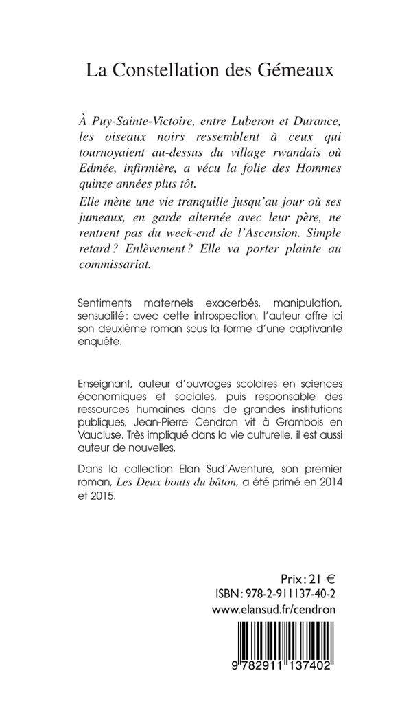 Chronique à propos de La Constellation des Gémeaux, Jean-Pierre Cendron
