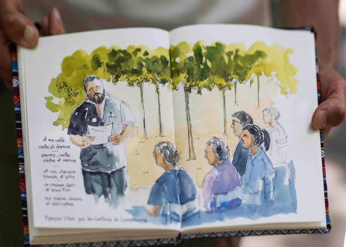Extraits audio des romans lus au jardin du Luxembourg en juillet
