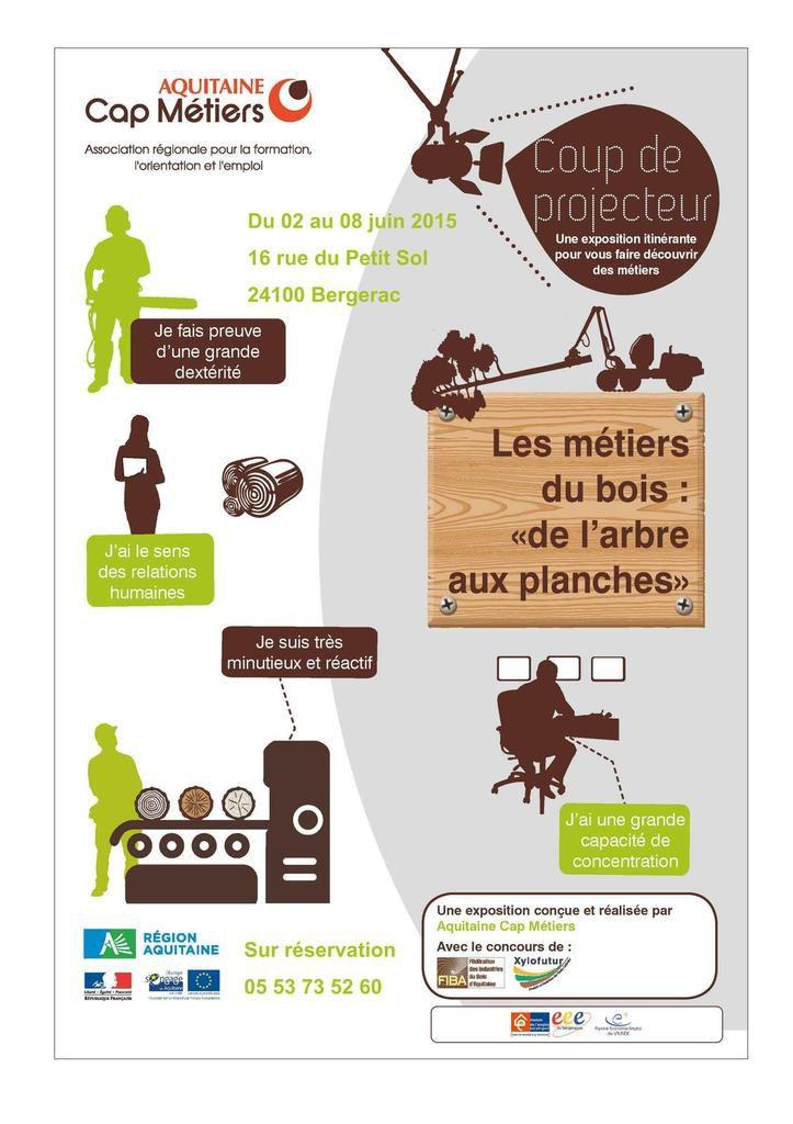 L'EMA de de Bergerac propose de découvrir les métiers du bois du 02 au 08 juin