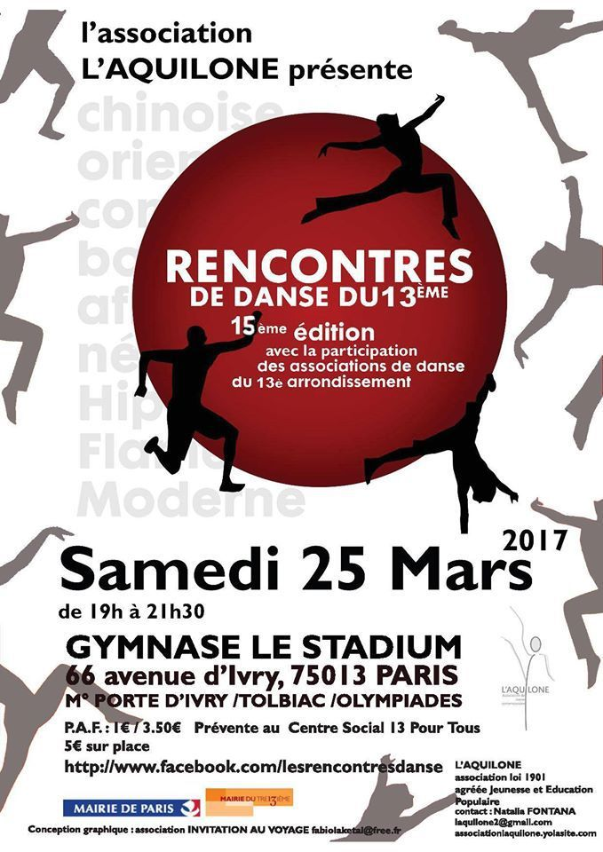 Rencontres de Danse du 13ème 2017
