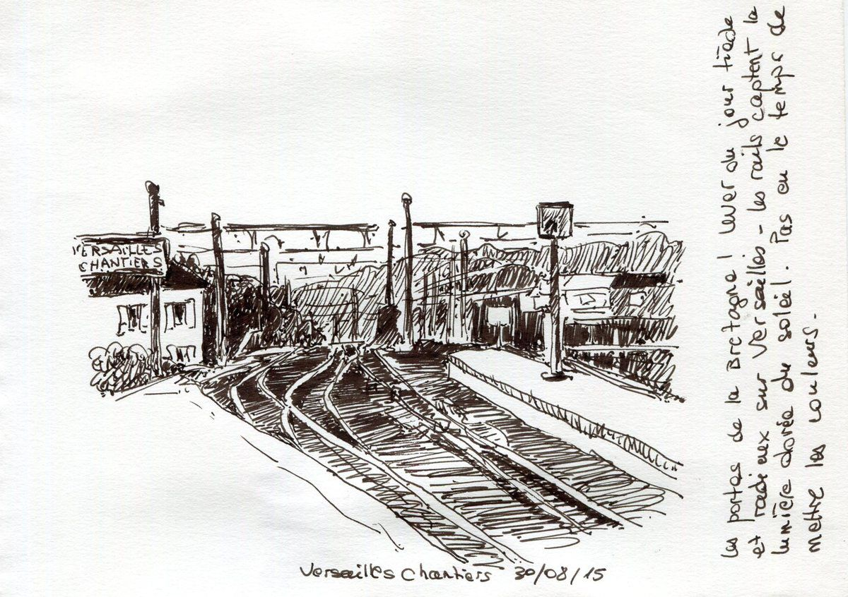 A un quart d'heure de la gare Montparnasse, porte de la Bretagne.