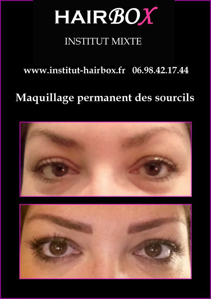 Maquillage permanent des sourcils institut Hairbox