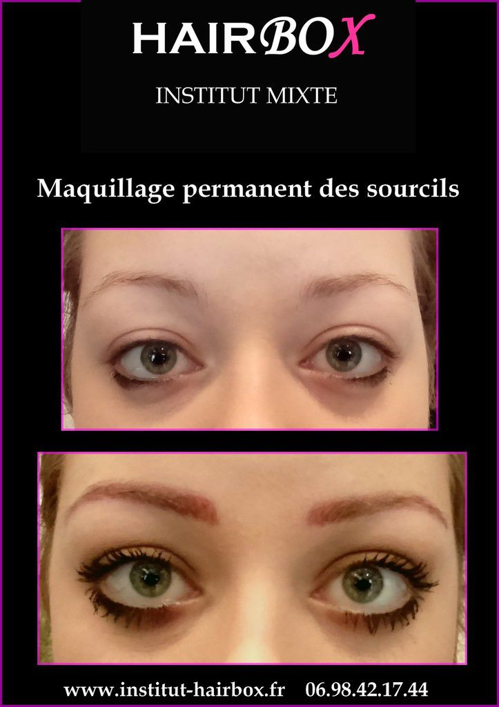 Maquillage permanent des sourcils blonds