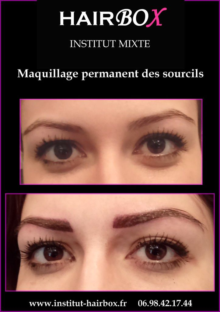 Maquillage permanent des sourcils aix