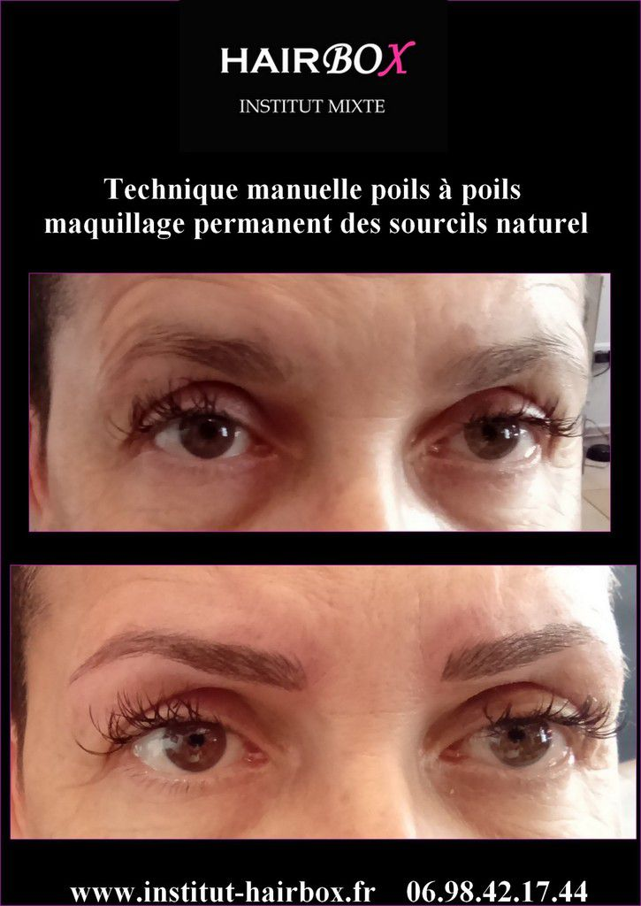 Maquillage permanent sourcils tecnique manuelle