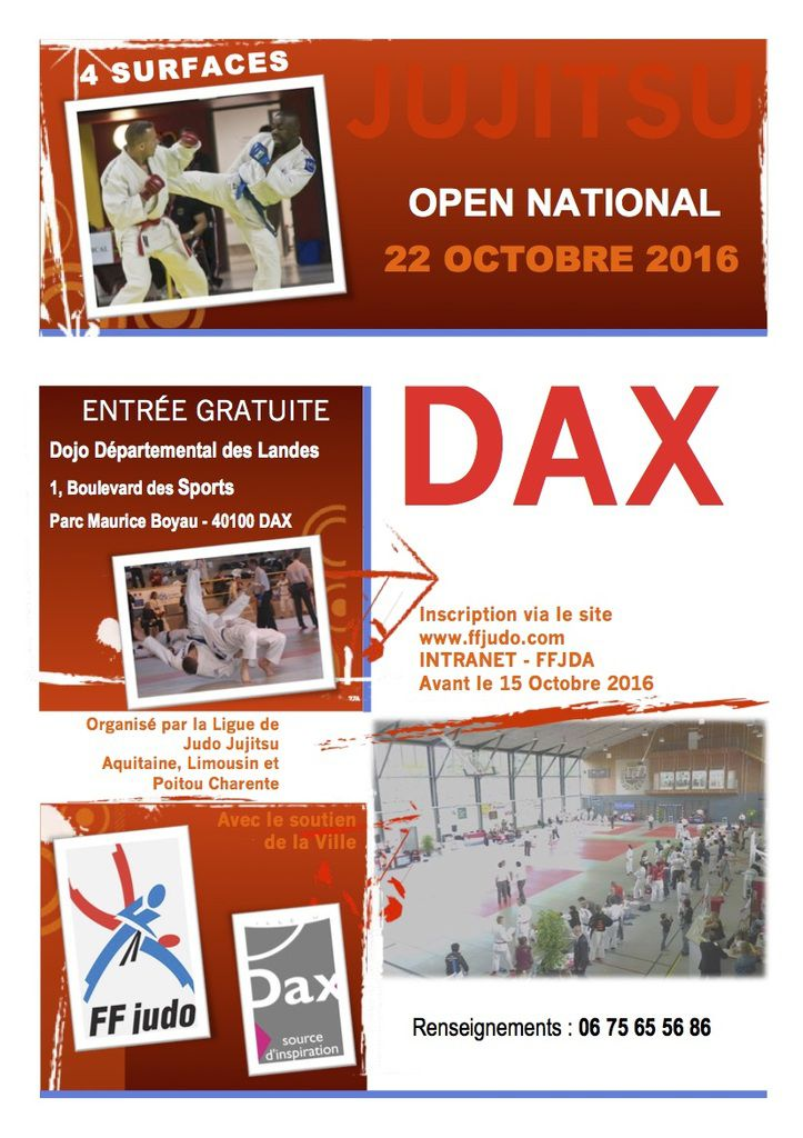 open national jujitsu dax le octobre