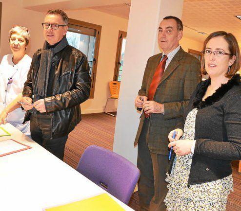 Signature d'une convention de partenariat entre le CHCB, Hemera et La Pontivyenne
