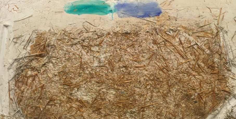 """1969 """"Palla i Fusta""""  Peinture matiériste"""