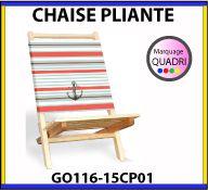 Chaise pliante avec marquage personnalisé de la toile en quadri digitale